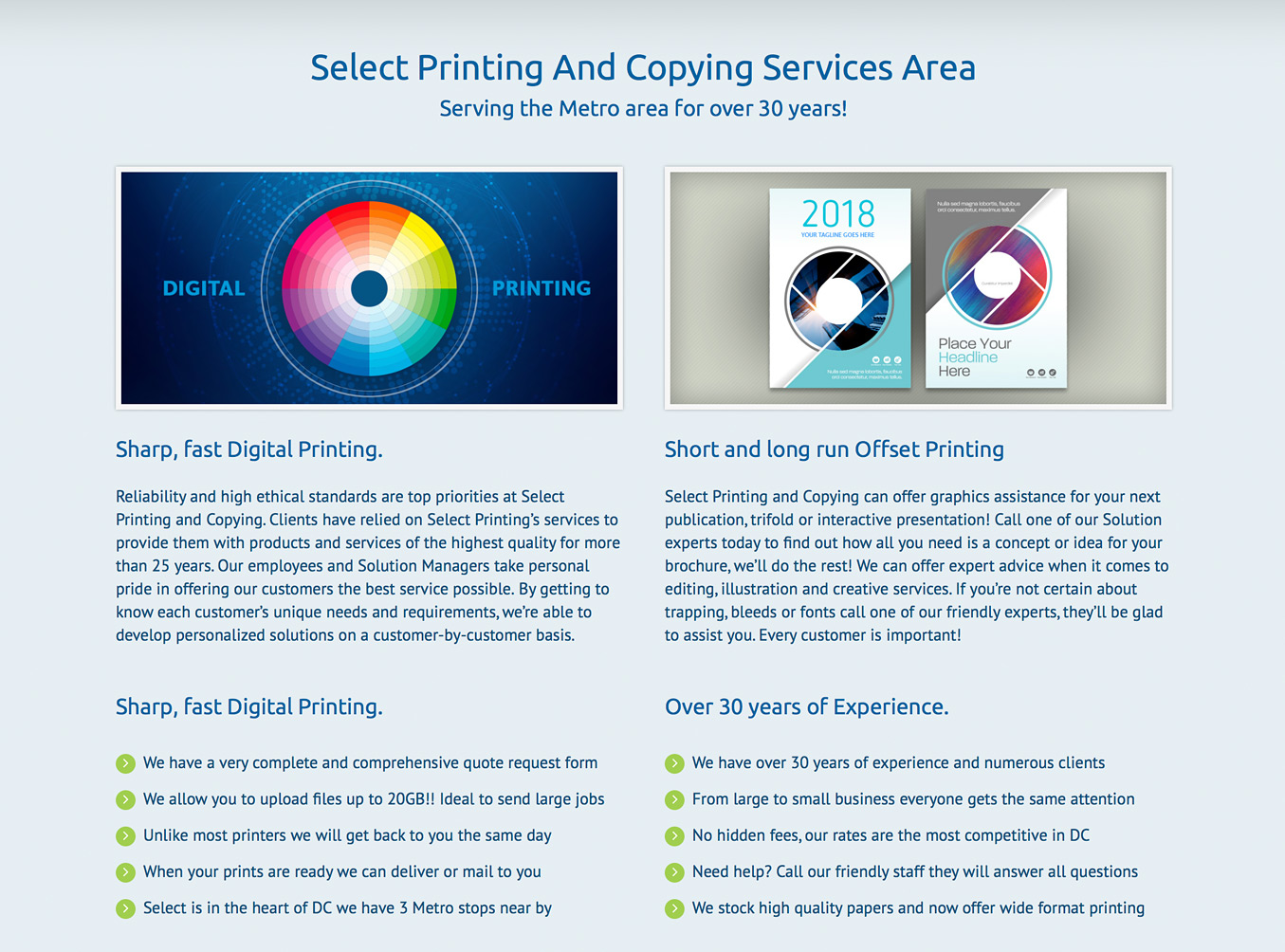 Select Printing and Copying